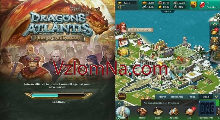 Dragons of Atlantis Коды и Читы Золото и Серебро