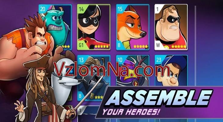 Disney Heroes Коды и Читы Кристаллы, Энергия и Монеты